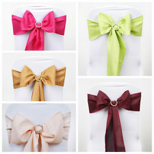 50 Polyester CHAIR SASHES Bows Ties Wedding Party Banquet Dinner Decorations