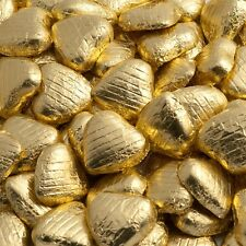 Luxury Belgian Milk Chocolate foil wrapped hearts ~ Wedding & Party Favours