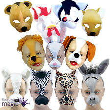 ANIMAL MASK WITH SOUND FARM ZOO DAYS FANCY DRESS COSTUME NATIVITY HEADBAND XMAS