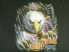 Vintage 90s 3D Born Wild Eagle Kids T-shirt Motorcycle Biker HD not 70s 80s