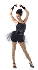 RUN THE WORLD Camisole Boy Shorts Unitard w/Attached Skirt & Mitts Dance Costume