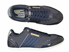 BRAND NEW MENS NICHOLAS DEAKINS DELTA NAVY SHINY TRAINERS ALL SIZES