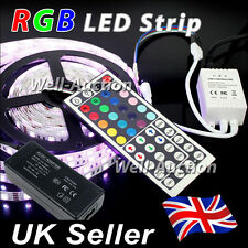 1M 2M 3M 4M 5M 5050 IP20 RGB SMD LED Strip + 44 Keys IR Remote Controller + PSU