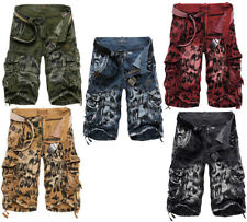 3D Design Mens Cool Vintage Loose Shorts Cargo Military Camo Casual Pants