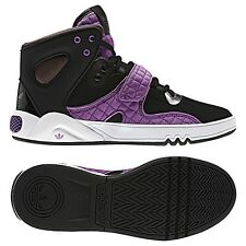 Womens Adidas Roundhouse Mid Classic Sneakers New, Black Purple G56813 Sale