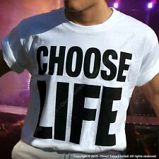 CHOOSE LIFE T Shirt George Michael WHAM Replica Retro 80s Fancy Dress   S - 3XL