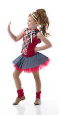 TELL ME SOMETHING w/Headpiece, Bow & Socks Jazz Tap Dance Costume CHILD SIZES