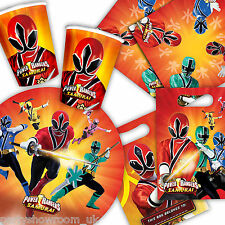 Power Rangers SAMURAI Birthday Party Tableware Napkins Plates One Listing PS