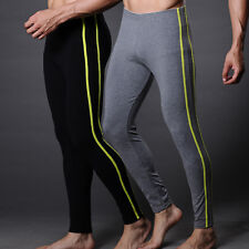 2 Color Available Warm Men's Cotton Smooth Thermal Long Underwear Pants Trousers