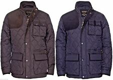 Mens quilted padded hunting style Country jacket coat