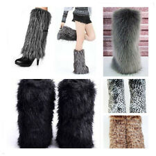 Fashion Deluxe Women Faux Fur Leg warmers Boot Sleeve Tube Cover 5 Styles New