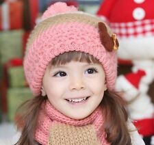 2013 Winter Baby Hats Scarf Girls Muffler and Earflap Caps Kids &Child Beret Hat