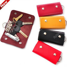 New Womens Xmas Wallets Key Faux Leather Keychain Holder Bag Purse Case 0815
