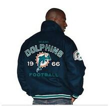 Miami Dolphins Official NFL Wool Varsity Jacket by G III NWT