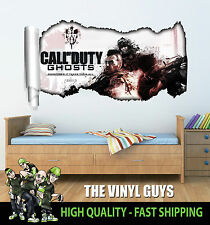 CALL OF DUTY GHOSTS 001 WALL TEAR CHILDRENS BEDROOM PLAYROOM DECAL STICKER
