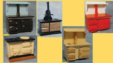 dolls house miniature 1:12 scale solid fuel stove 5  to choose from. (NOT REAL)