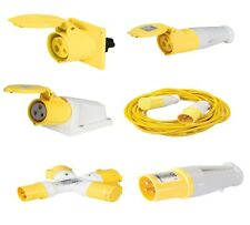 16 AMP 16A 110V 110 VOLT YELLOW PLUGS, SPLITTERS AND SOCKETS WEATHER PROOF