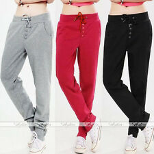 Fashion Women Girl's Korean Style Casual Sports Drawstring Sweatpant Harem Pant