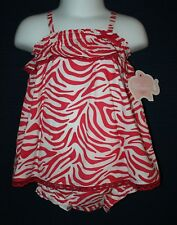 NWT - Girls 2 Pc Set - FIRST MOMENTS - 3M & 6M Layette - Pink & White - Rtl $30