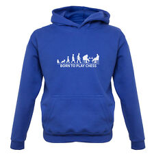 Born To Play Chess - Kids / Childrens Hoodie - Player-Game-7 Colours-Free UK P+P