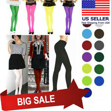 Autumn Winter Opaque Pantyhose Stockings Tights Leggings 15 Candy Colors 2 Sizes