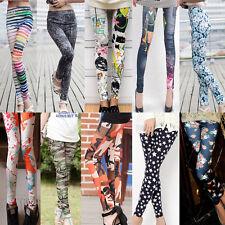 HOT! Sexy Womens Punk Funky Stretchy Tights Sexy Pencil Skinny Pants