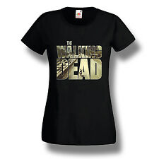 Daryl Dixon The Walking Dead T-Shirt Zombie TV Series Women Shirt Black S-2XL