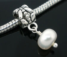 Wholesale Lots Freshwater Pearl Dangle Beads Charms Fit Charm Bracelet 23x8mm