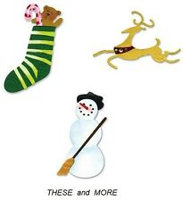 NEW Sizzix Sizzlits CHRISTMAS DIE Reindeer Snowman Stocking Angel Stars  DIES