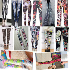 Hot Sexy Lady Pattern Print Women Stretch Leggings Tights Pencil Skinny Pants