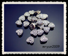 FREE Seed Jewelry Handmade Tibetan silver Heart Rondelle SPACER Loose BEADS 6mm
