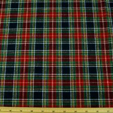 Red Green And Yellow Tartan Flannel Wincyette Cotton Fabric