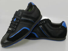Men's Hugo Boss Stiven Black Open Blue Sneakers 50247608-460