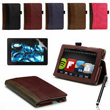 """SMART LEATHER WALLET STANDING CASE COVER FOR NEW AMAZON KINDLE FIRE HDX 7"""""""