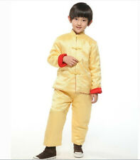 Double face Chinese kid child boys winter cotton jacket/pants suit Sz: 2 4 6 8