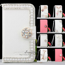 Diamond Diamante Magnetic Wallet Leather Hard Case For LG Optimus P970 Phone New