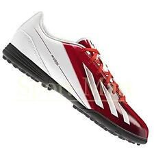 Mens Adidas F5 TRX Messi Asto Turf Football Trainers White/Red Mens Size