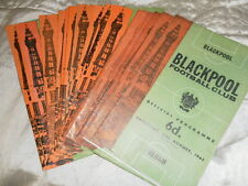 BLACKPOOL HOME PROGRAMMES FROM 1965/6 - CHOOSE FROM LIST