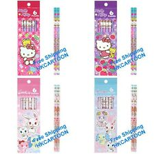 SANRIO HELLO KITTY JEWELPET WOOD HB PENCIL ROUND SHAPE- 6 PCS IN GIFT BOX 9-1129