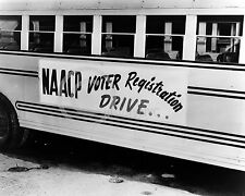 1944 NAACP VOTER REGISTRATION BUS PHOTOGRAPH Largest Sizes