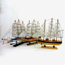 "Handbuilt WOOD MODEL 12"" Sailing Boat Tall Ship Sailer Home Nautical decor SZ13"