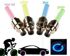 Multicolor Bike Bicycle Cycling Tire Wheel Valve Neon Led Blue Light Flash LED