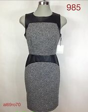 CK elegant dress NWT Black and Ivory color block ,Slimming and Modern