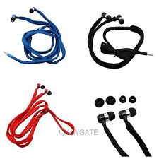 1M 3.5mm Universal Hand Free 3 Colors Shoelace Stereo Headset Headphone Earbud