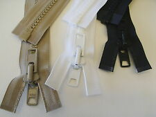 Marine Grade Plastic Zippers For Outdoor Use YKK Multiple Sizes Three Colors