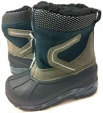 Champion Thermolite Insulated Green and Gray Winter Snow Boots:Baby Size 9, 6