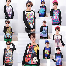 Women Animal characters printed fashion cartoon Star Hoody sweater shirt Jumper