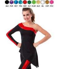 SIDELINES TUNIC TOP Dance Costume Pick Color Adult & Child Sizes
