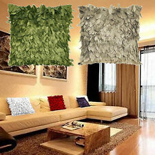 Decorative Fallen Leaves Leaf Feather Throw Pillow Cover Pillow Cushion Case
