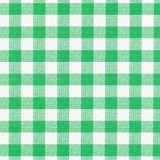 Checked Green Avanti 4186 Fleece Backed Tablecloth - Many Sizes